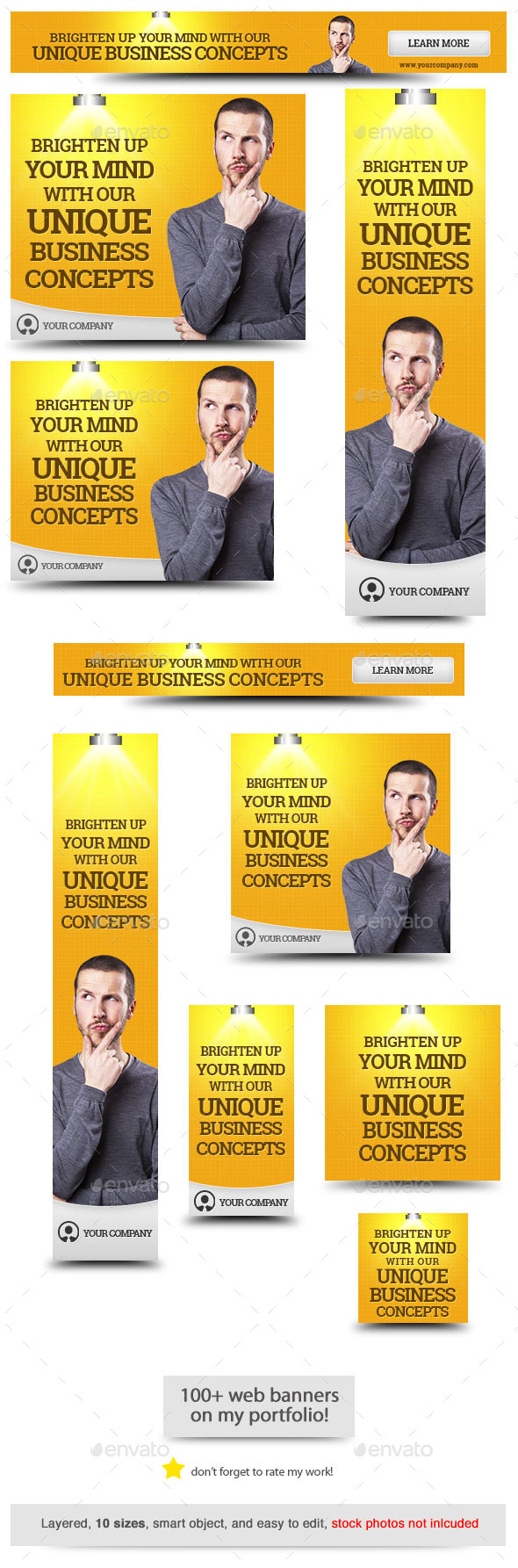 GraphicRiver Corporate Web Banner Design Template 52 8794671