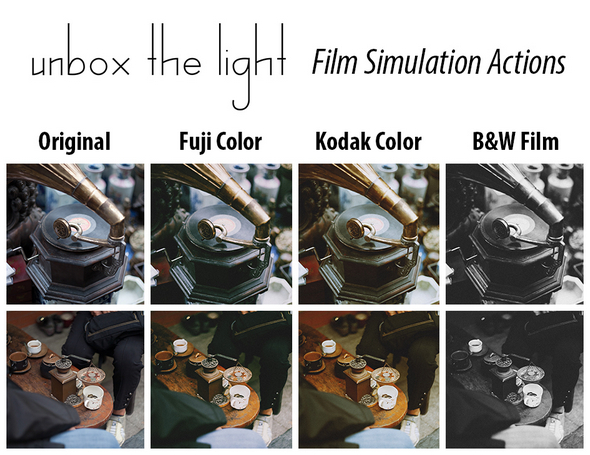 Film Simulation Photoshop Actions - Photo Effects Actions