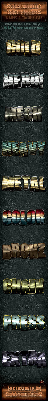 Metallic Text Effects