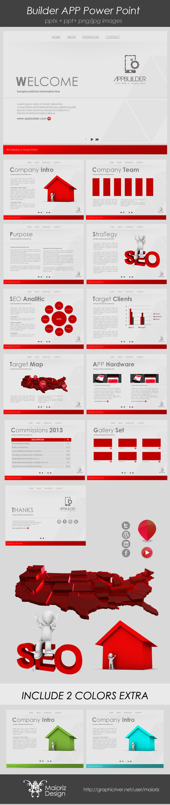 Developer Dinamic Presentation - Business PowerPoint Templates