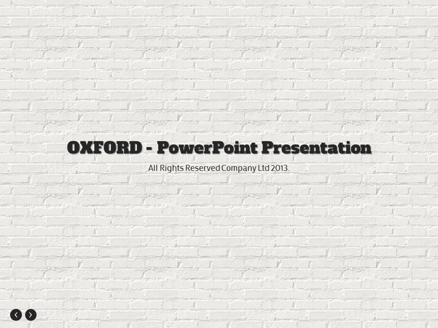 Oxford - PowerPoint Presentation For General Use