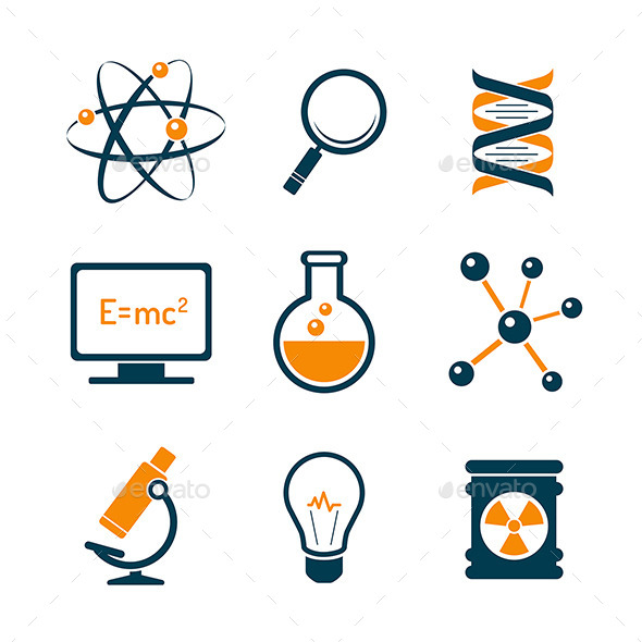 GraphicRiver Chemistry And Bio Technology Science Icons 8794736