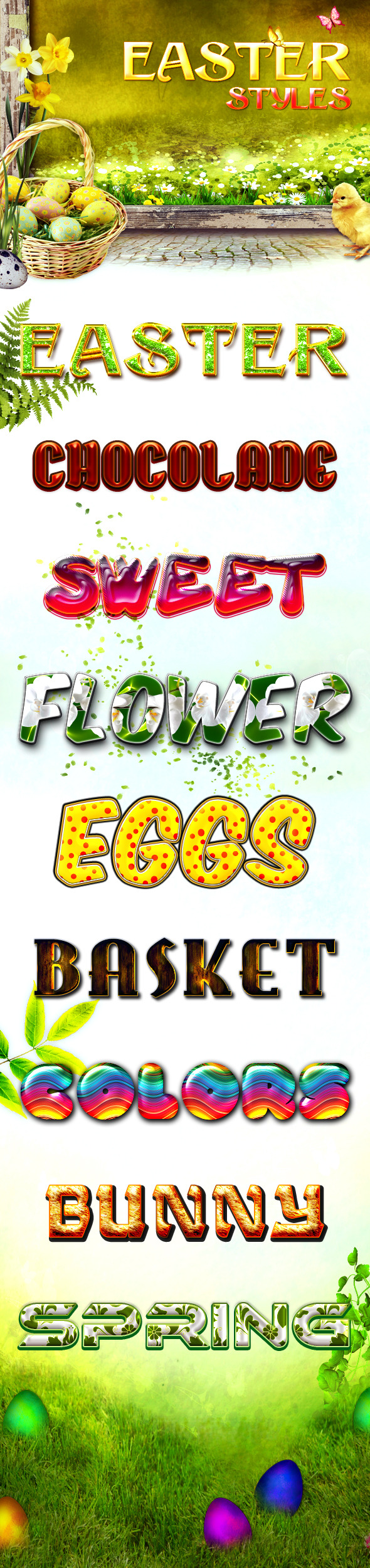 Easter Styles - Text Effects Styles