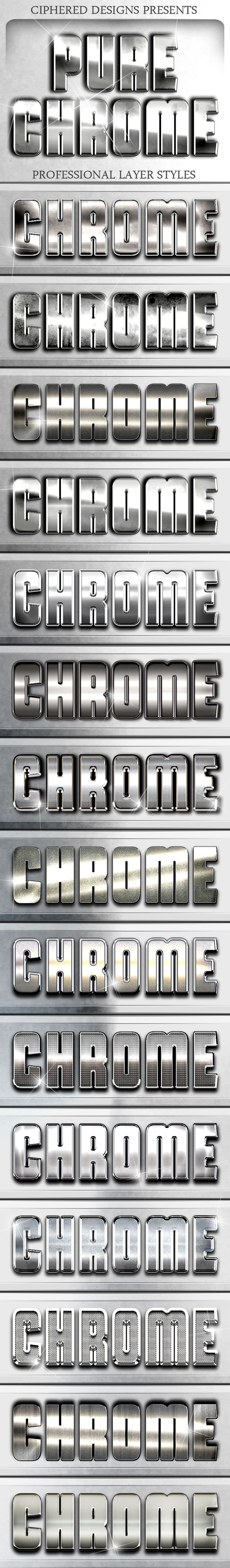 Pure Chrome - Professional Layer Styles - Text Effects Styles