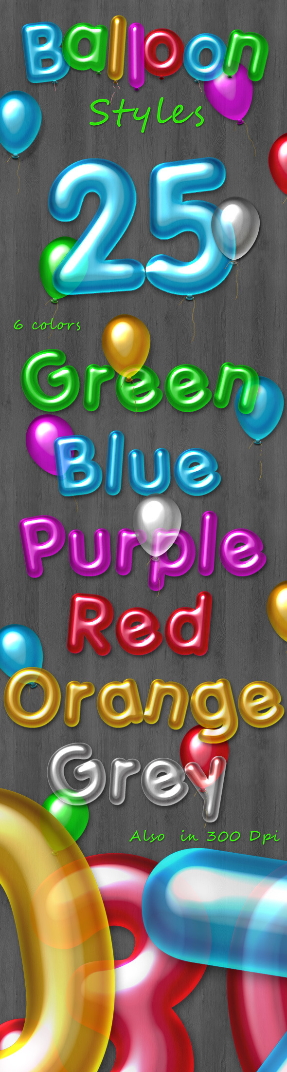 New Balloon Styles - Text Effects Styles