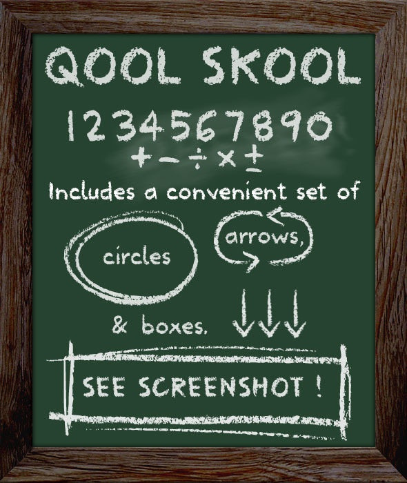 School Type Lettering - Chalkboard Font - Hand-writing Script