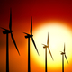Wind turbine at sunset background - PhotoDune Item for Sale