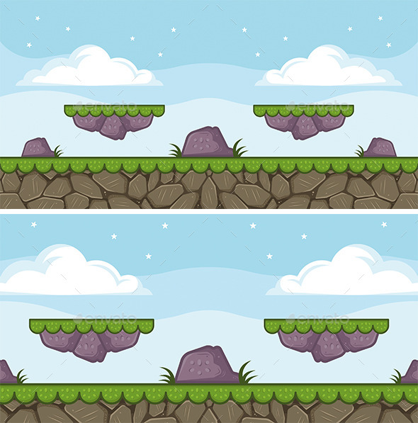 GraphicRiver Nature Game Background 8758993