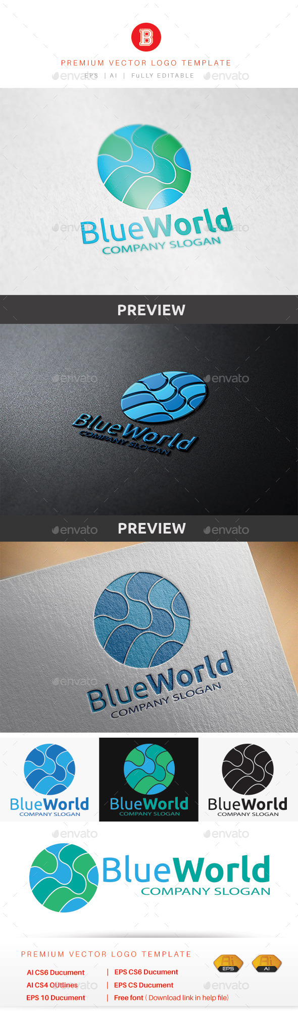 GraphicRiver Blue World 8794914