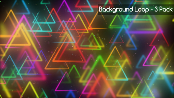 Triangle Moving Background 3 Pack