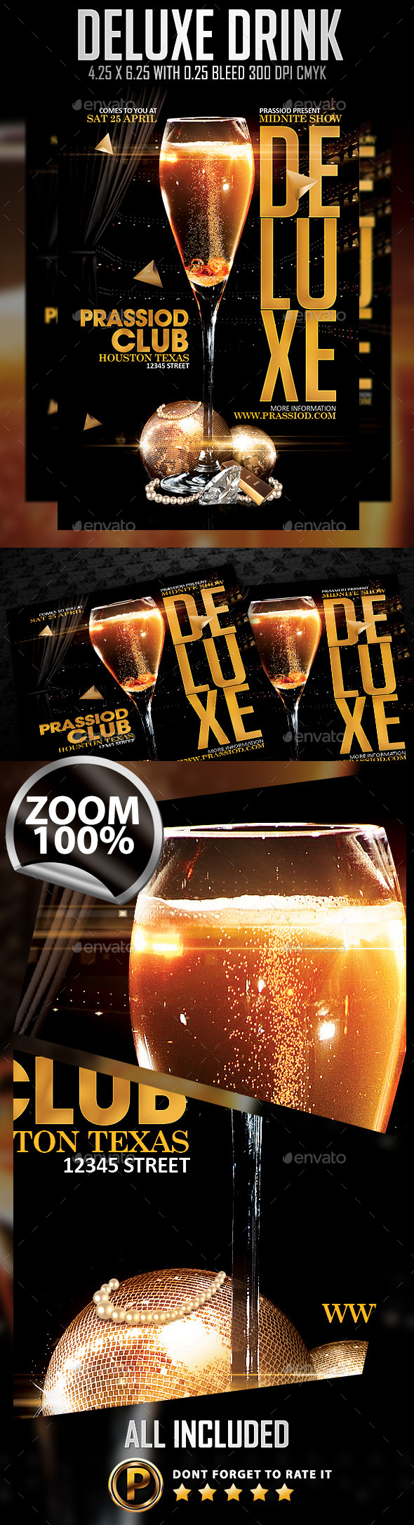 Deluxe Drink Flyer Template - Clubs & Parties Events