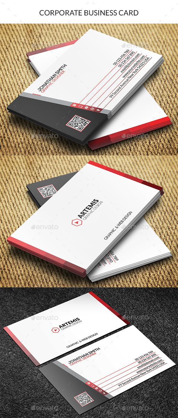 GraphicRiver Corporate Business Card 8795238