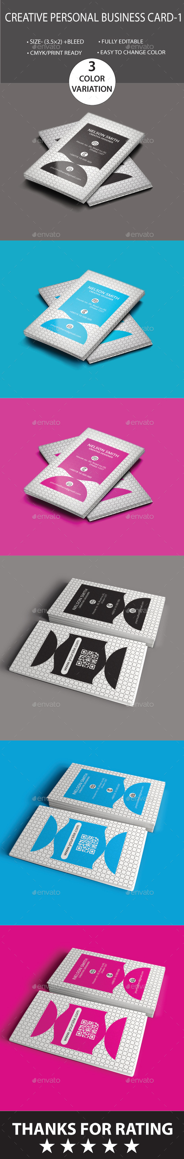 GraphicRiver Personal Creative Business Card- 1 8795315