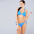 Sexy brunette posing in blue swimsuit - PhotoDune Item for Sale