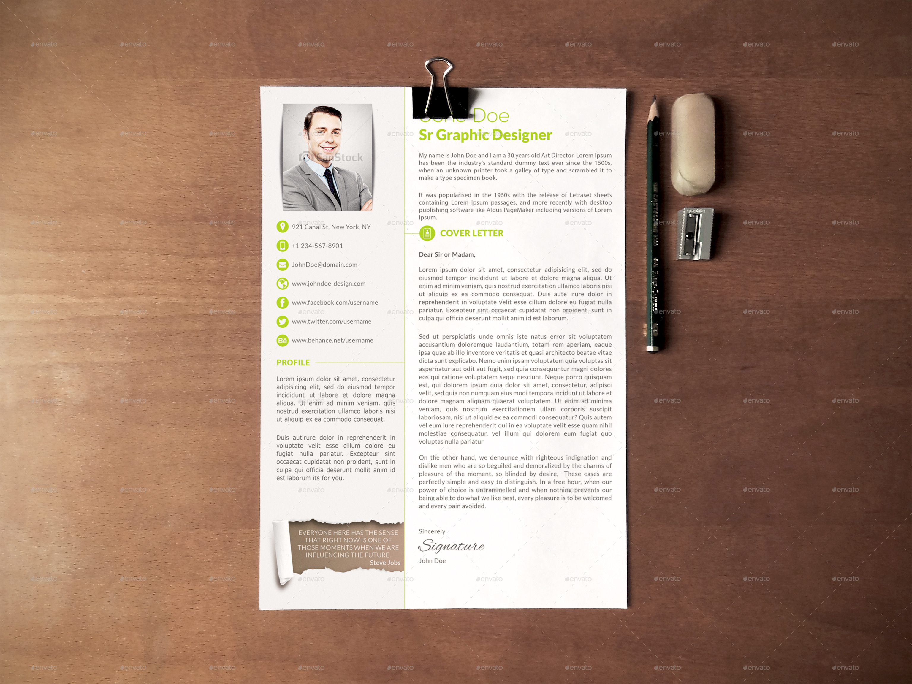 resume cover letter preview