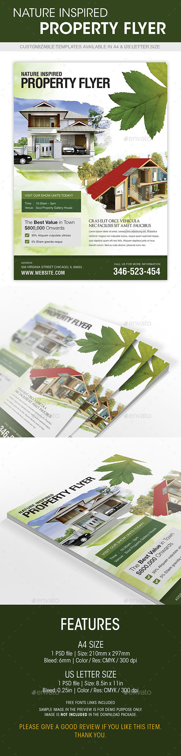 GraphicRiver Nature Inspired Property Flyer 8795804