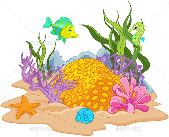 GraphicRiver Underwater Landscape 8795811