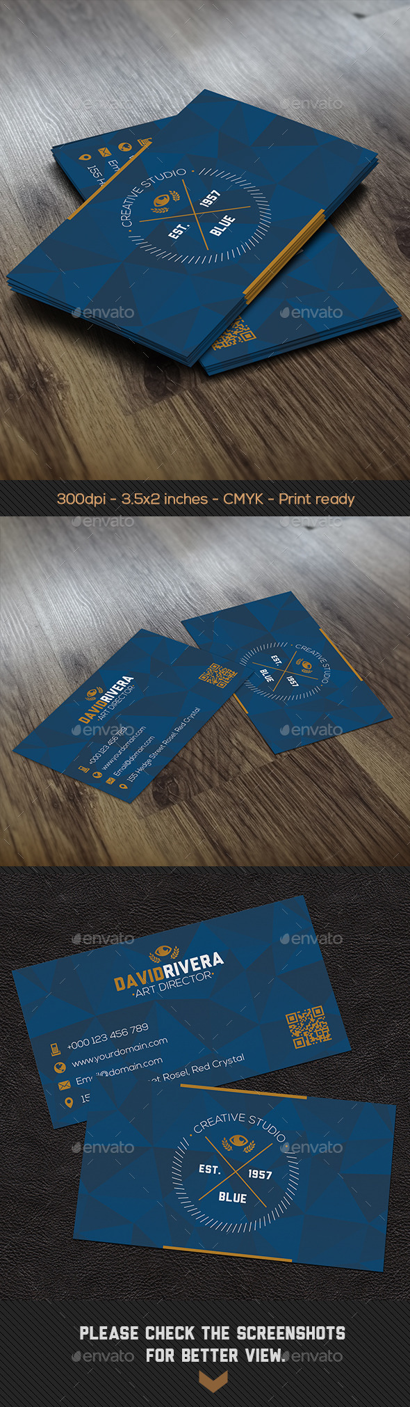 GraphicRiver Crystal Blue Creative Business Card 8795820