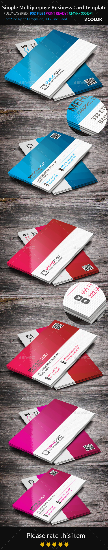 GraphicRiver Simple Multipurpose Business Card Template 8795979