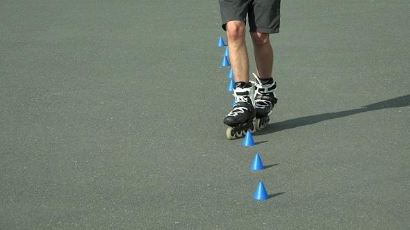 Skating on Roller Skates