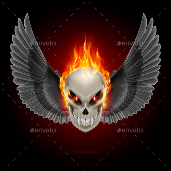 GraphicRiver Flaming Mutant Skull 8795993