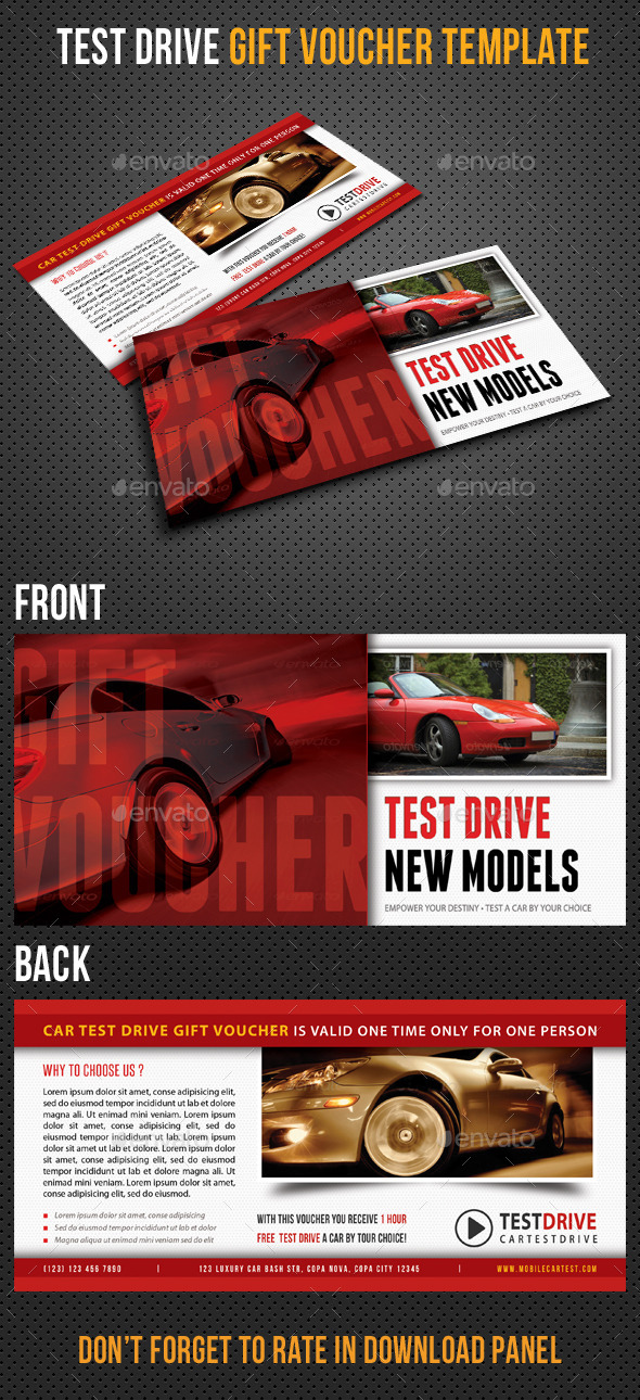 GraphicRiver Test Drive Gift Voucher V01 8796002