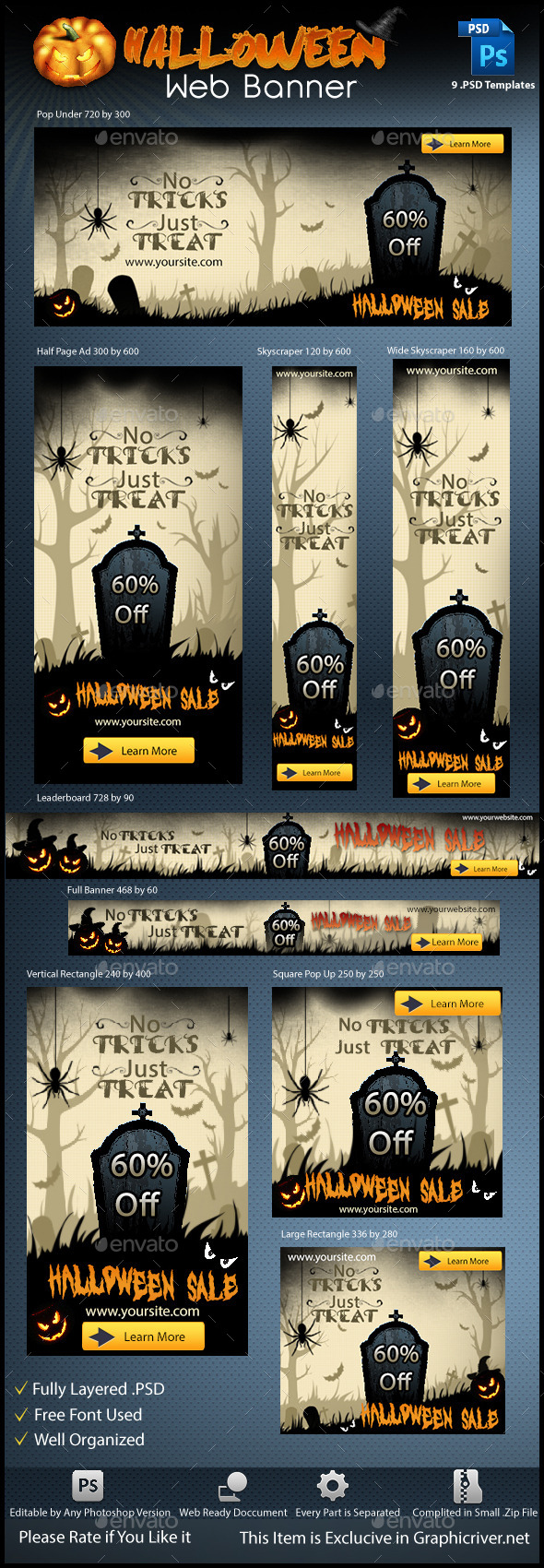 GraphicRiver Halloween Web Banner 8789735