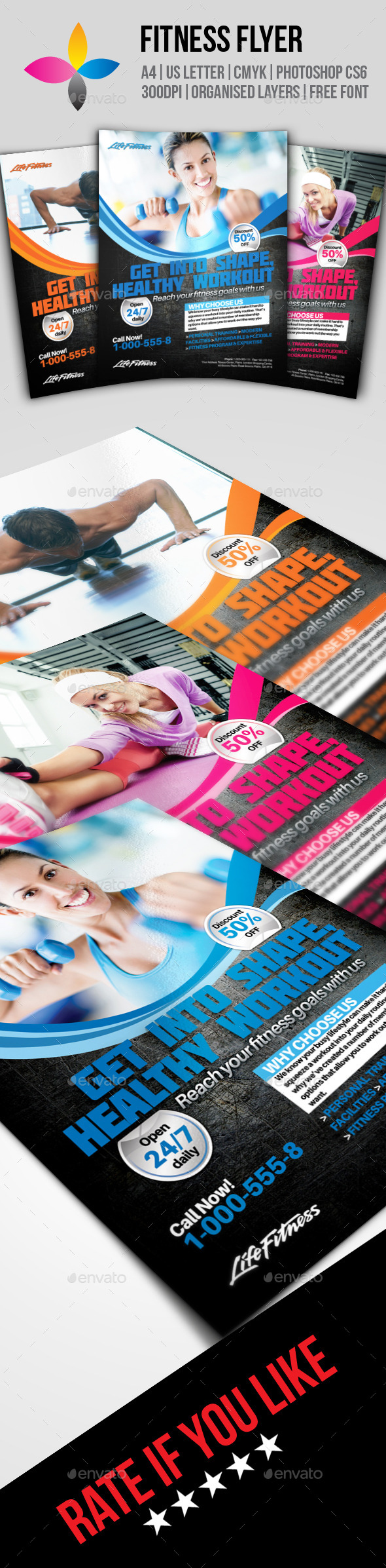 GraphicRiver Fitness Flyer 8790461