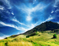 Majestic Countryside Landscape.Dramatic Sky and Hill