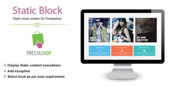 CodeCanyon Static block creater Prestashop module 8796133