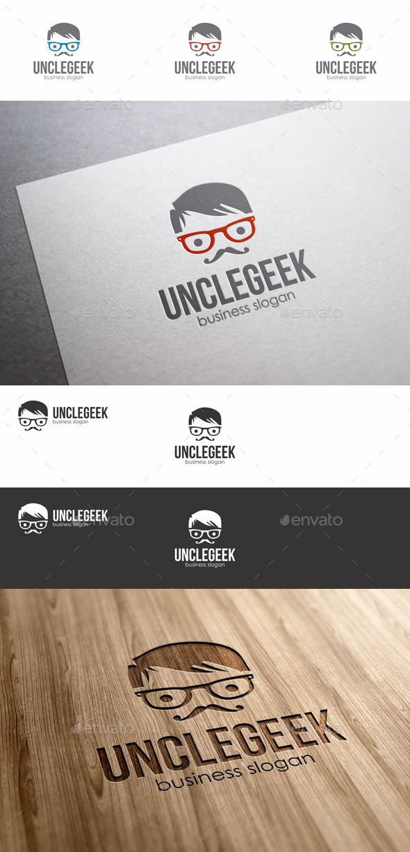 GraphicRiver Uncle Geek Logo 8796432