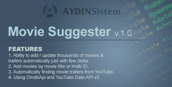 CodeCanyon Movie Suggester 8746574