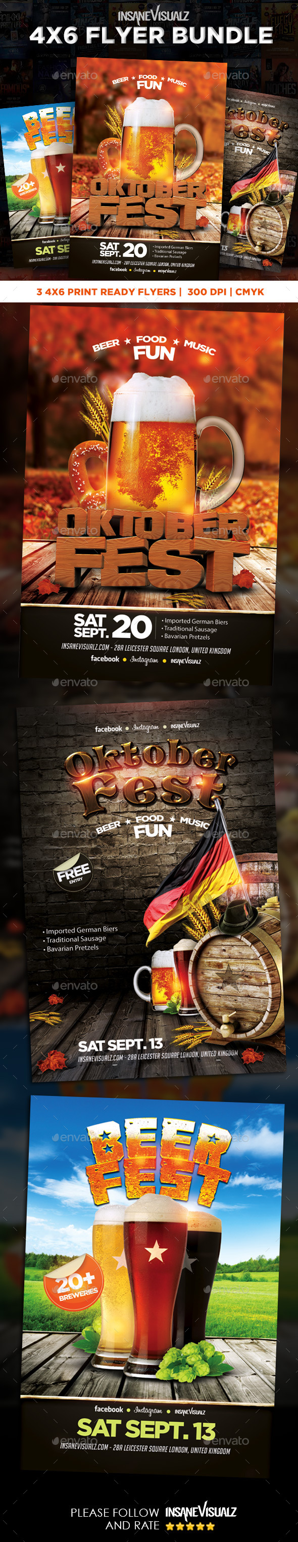 GraphicRiver OktoberFest Flyer Bundle 8788062