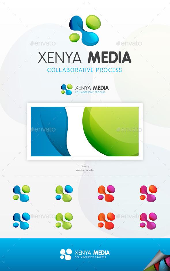 GraphicRiver Xenya Media Logo 8796925