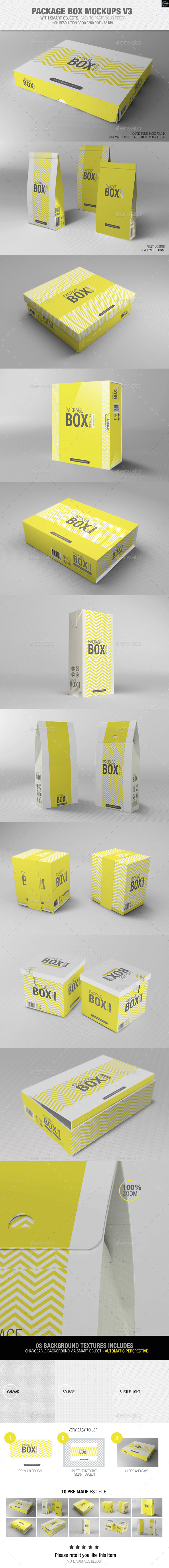 GraphicRiver Package Box Mockups Vol3 8797989