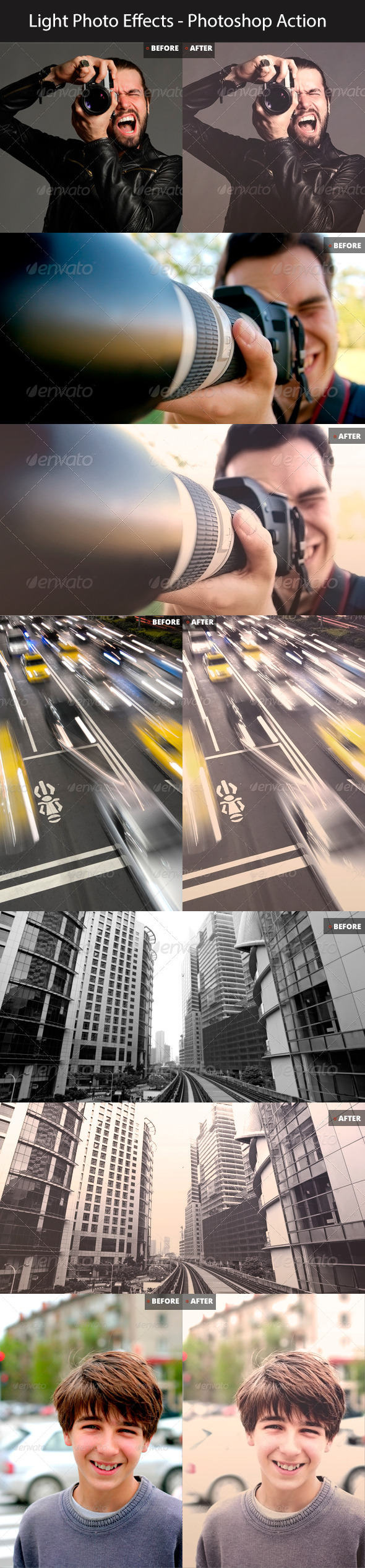 Light & Movie Style Photo Effect