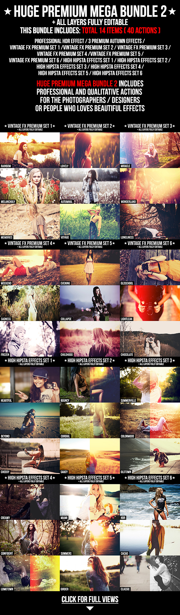 Huge Premium Mega Bundle 2 - Photo Effects Actions