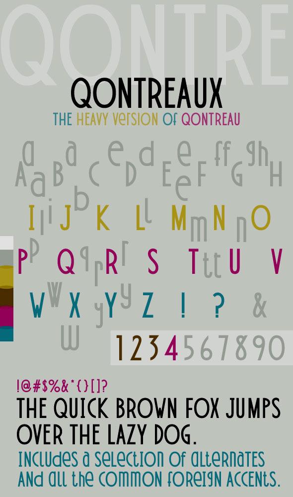 Qontreaux Bold Elegant Modern Typeface