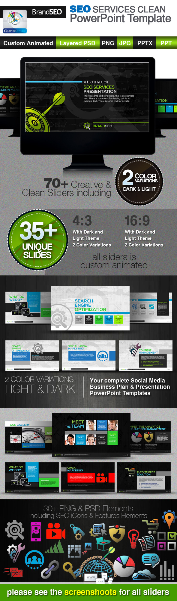 BrandSEO SEO Services PowerPoint Templates