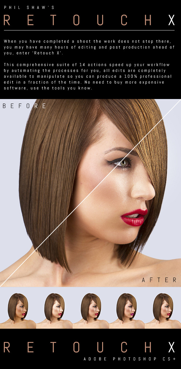 Retouch X v2.0 - Commercial Retouching Pack - Photo Effects Actions