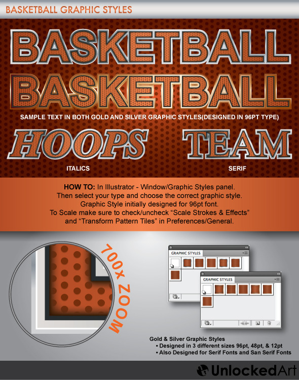 Basketball Graphic Style - Illustrator Add-ons