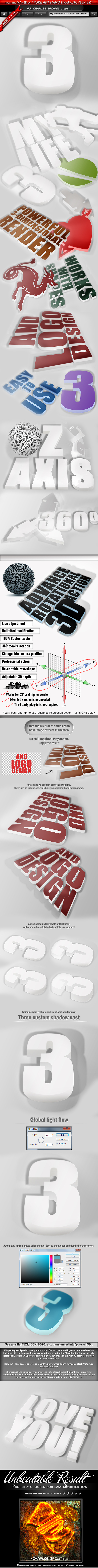 Advance Rotational 3D Action – Color Option - Text Effects Actions