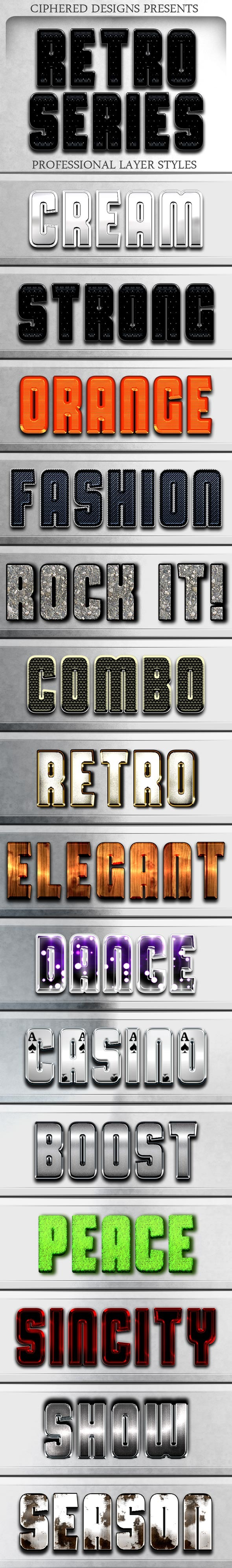 Retro Series - Professional Layer Styles - Text Effects Styles