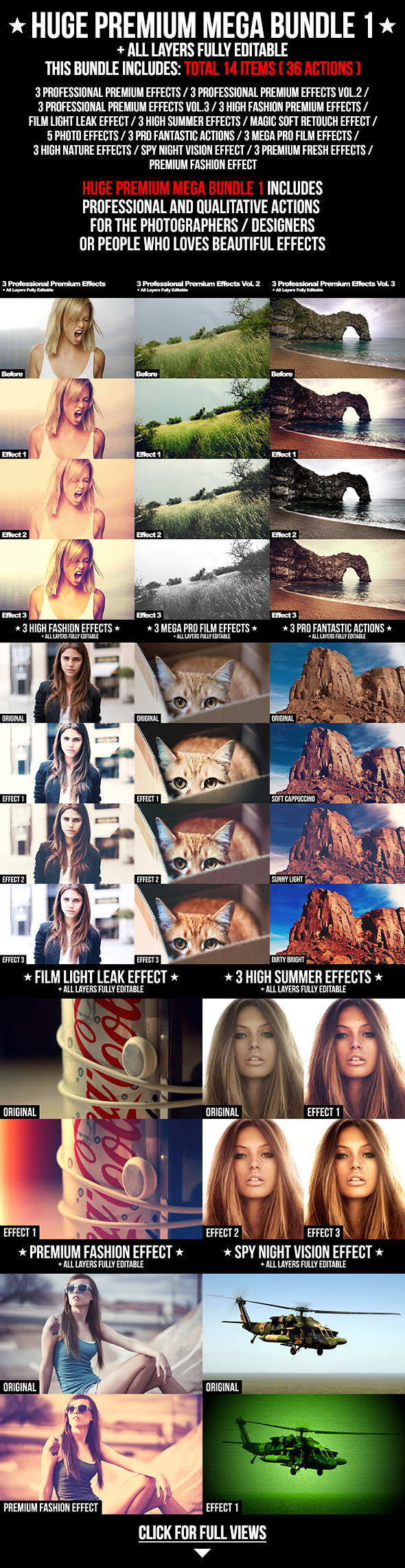 Huge Premium Mega Bundle 1 - Photo Effects Actions