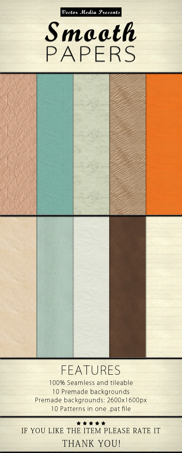 Smooth Papers - Textures / Fills / Patterns Photoshop