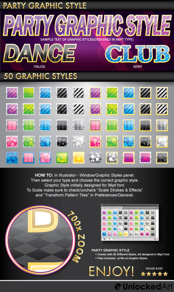 Party Graphic Style - Styles Illustrator