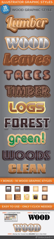 Wood Graphic Style - Styles Illustrator