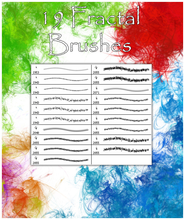 19 Fractal  Brushes - Abstract Brushes