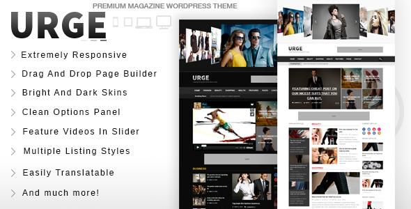 Urge - Responsive Magazine News WordPress Theme - News / Editorial Blog / Magazine