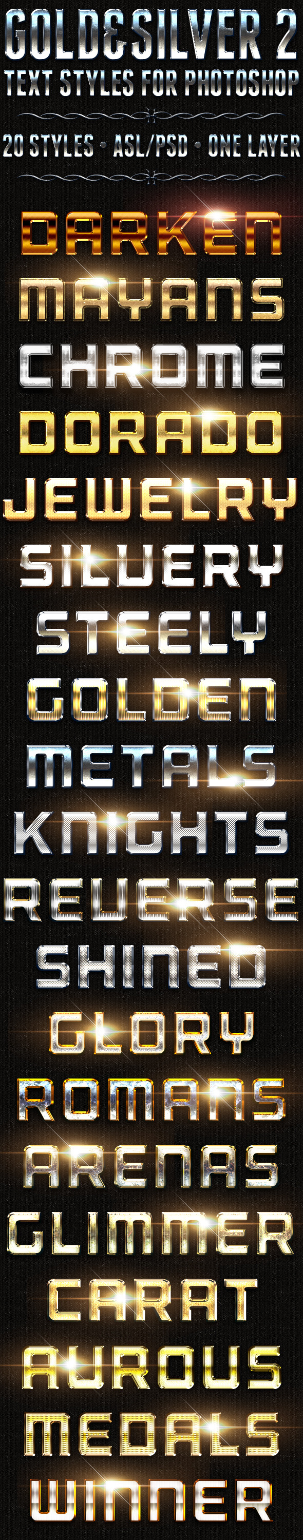 Gold & Silver 2 - Text Styles - Text Effects Styles